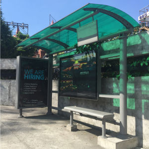Customized Advertising Outdoor Bus Stop Shelter with Light Box Display pictures & photos
