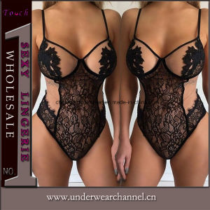 Wholesale One Piece Teddy Lace Underwear Sexy Lingerie (TFQQ0979) pictures & photos