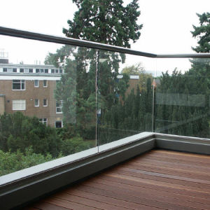 Tempered Glass Railing Balcony Polished Stainless Steel Glass Balcony Railing pictures & photos