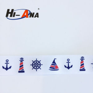 Global Brands 10 Year Hot Selling Custom Printed Grosgrain Ribbon pictures & photos