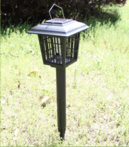 Solar Powered Mosquito Killer Lamp with Four-Corner Shape pictures & photos