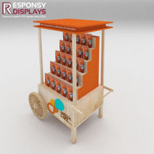 Wood Utility Cart Snack and Food Coffee Display Stand pictures & photos