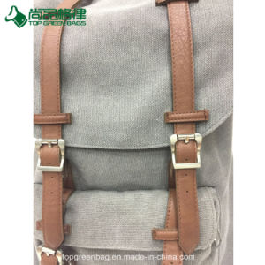Hot Selling Canvas & Leather Travel Backpack Hiking Backpack pictures & photos