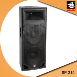 Dual 15 Inch Professional PA System Wooden Passive Speaker pictures & photos