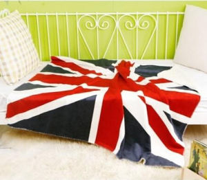 100% Polyester Micro Mink The United States Flag Baby Blanket pictures & photos