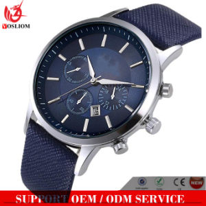 Yxl-553 Quality Choice Slim Stainless Steel Case Quartz Watch with Date in Leather Strap for Men pictures & photos