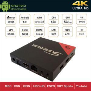 Google Android 6.0 TV Box Ott Amlogic S905X E8 1+8GB pictures & photos