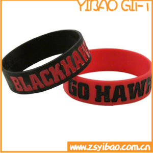 Custom National Flag Color Silicone Wristband for Promotional (YB-SW-10) pictures & photos