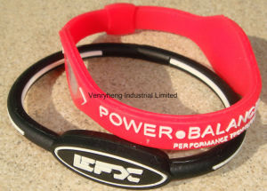 Factory OEM Custom Energy Silicon Rubber Bracelet for Promotion Gift pictures & photos