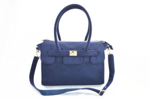 Navy Blue Lint Cross Body Bag Dual-Purpose Handbag pictures & photos