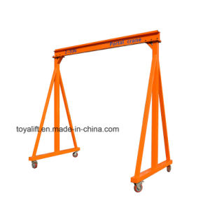 Capacity 500kg 1t 2t Portable Manual Electric Gantry Crane pictures & photos