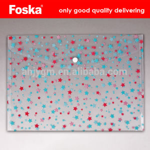 Good Quality PP A4 Buckle File Pocket pictures & photos