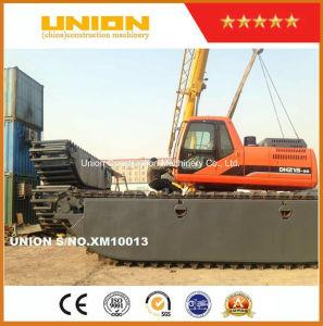 Doosan Dh215-9 Amphibious Excavator with Undercarriage Pontoon Marsh Buggy pictures & photos