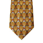 Men′s Fashion Brown Colour 14mm Jacqaurd Silk Printed Necktie pictures & photos