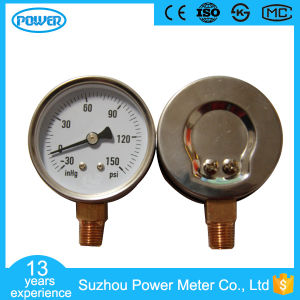 80mm Stainless Steel Case Pressure Gauge Negative Pressure Vacuum Manometer pictures & photos