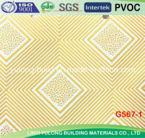 Linyi Popular PVC Gypsum Ceiling Tile pictures & photos