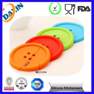 Cute Colorful Silicone Button Coaster Cup Mat Drink Placemat pictures & photos