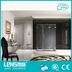 The Newest 2013 10/12mm Tempered Glass Hinge Door Shower Cabin Lampard U51