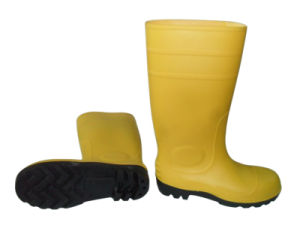 Yellow Color Safety Rain Shoes pictures & photos
