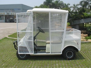 2 Seater White Elctric Pick-up Ball Car for Golf pictures & photos