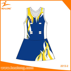 Healong Sportswear Customized Lady Dress Sublimation Netball Skirt pictures & photos