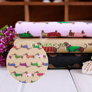 Dachshund Dog Patterns 250GSM Tent Canvas Fabric pictures & photos