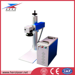 Portable Fiber Laser Marking Machine for Plastic Ear Tag, Label, Brid Ring Serial Number pictures & photos