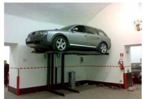 2m High Single Post Parking Lift Made in China pictures & photos