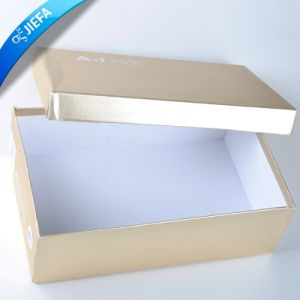 High Quality Orange Color Cardboard Box for Shoes pictures & photos