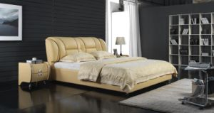 High Quality Bedroom Sets Luxury Leather Bed (6027) pictures & photos