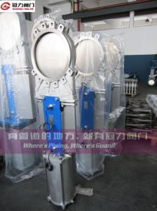 Pneumatic Knife Gate Valve with Mechanical Limit Switch pictures & photos