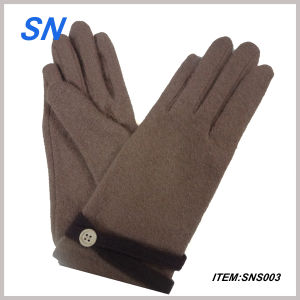 Pretty and Cheap Touchscreen Wool Gloves Women (SNS3) pictures & photos