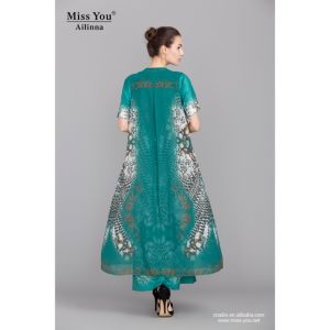 Miss You Ailinna 101721 Green Two-Pieces Long Dress Smooh Cool Dress with Low Price pictures & photos
