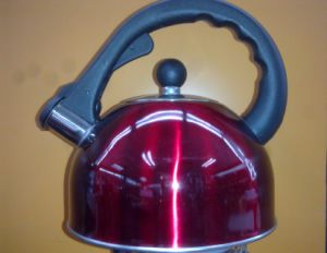 Stainless Steel Red Kettle Bakelite Handle pictures & photos