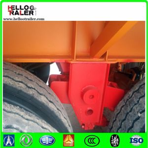 20FT Fuwa Axle Flatbed Trailer with Container Twist Lock pictures & photos