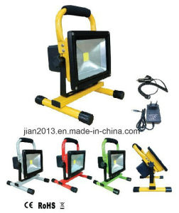 20W 12hours 8800mAh Cool White Rechargeable LED Floodlight pictures & photos