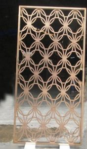 color decorative metal stainless steel mesh screen by laser cutting