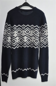 Wool Blend Round Neck Knitting Men Pullover pictures & photos