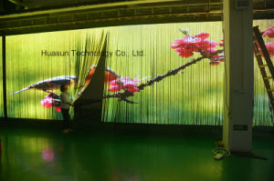 Window Transparent LED Curtain Display Indoor LED Curtain Display pictures & photos
