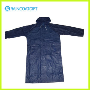 100% Polyester PVC Coating Men′s Raincoats (RPY-041) pictures & photos