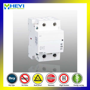 Household 100 AMP Contactor 230V 50Hz 2pole 2nc Electrical Type pictures & photos