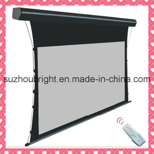 Electric Tab Tensioned Screen with Best Screen Fabric