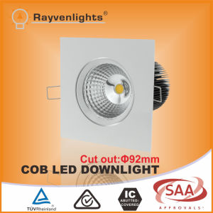 SAA New Square COB LED Dimmable Downlight 12W
