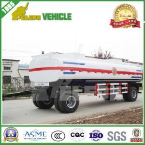 2 Axles Full Fuel Tank Drawbar Trailer pictures & photos