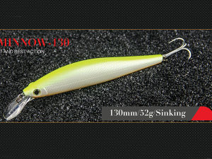 Hard Fishing Lure (Steady Minnow 130mm Sinking) pictures & photos