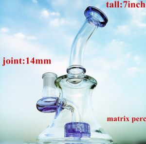 8inch Honeycomb Perc Glass Smoking Water Pipe pictures & photos
