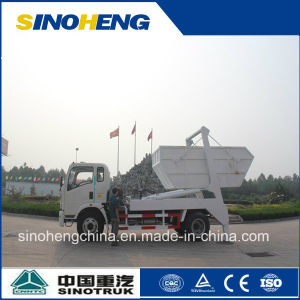 China Sinotruk Small Garbage Truck Skip Loader pictures & photos