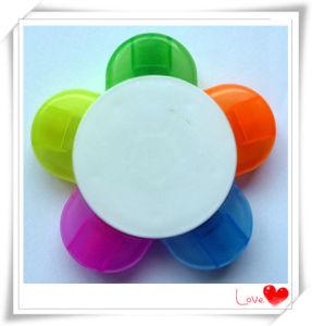 Popular Design PP Material Fiber Tip Colorful 5 in 1 Highlighter Marker Pen