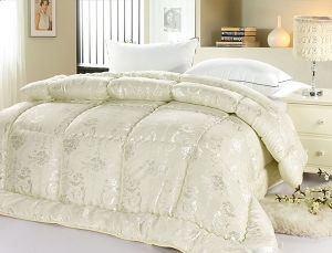 Jacquard Quilted Pure Mulberry Silk Comforter