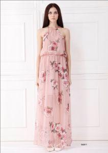 Woman Sleeveless Long Fashion Dress (X65011)